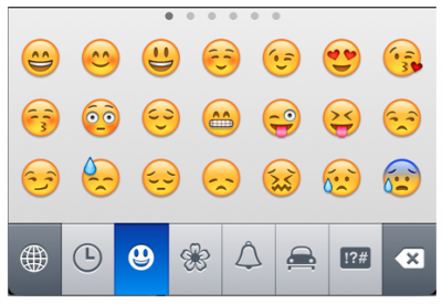 Native emoji support on the iPhone will be available as an international keyboard. Image from apple.com.
