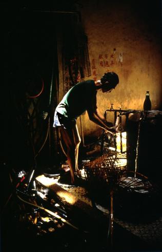 """Greg Girard """"Water Standpipe (Man Washing), 1989"""