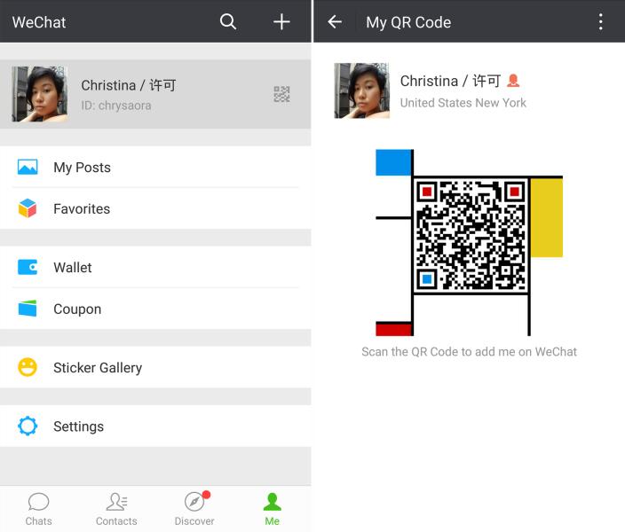 WeChat QR code profile