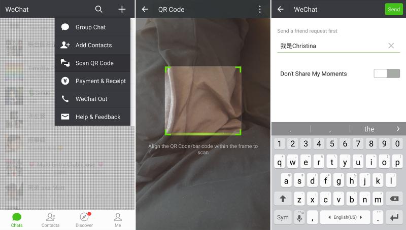 WeChat QR code screenshots