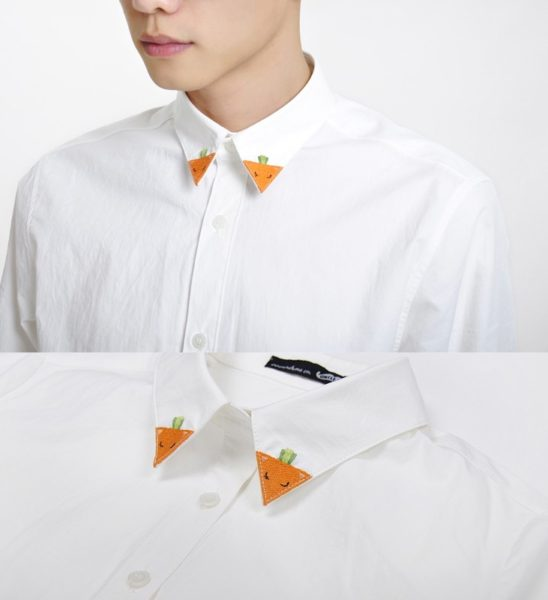 Fox collar shirt photo